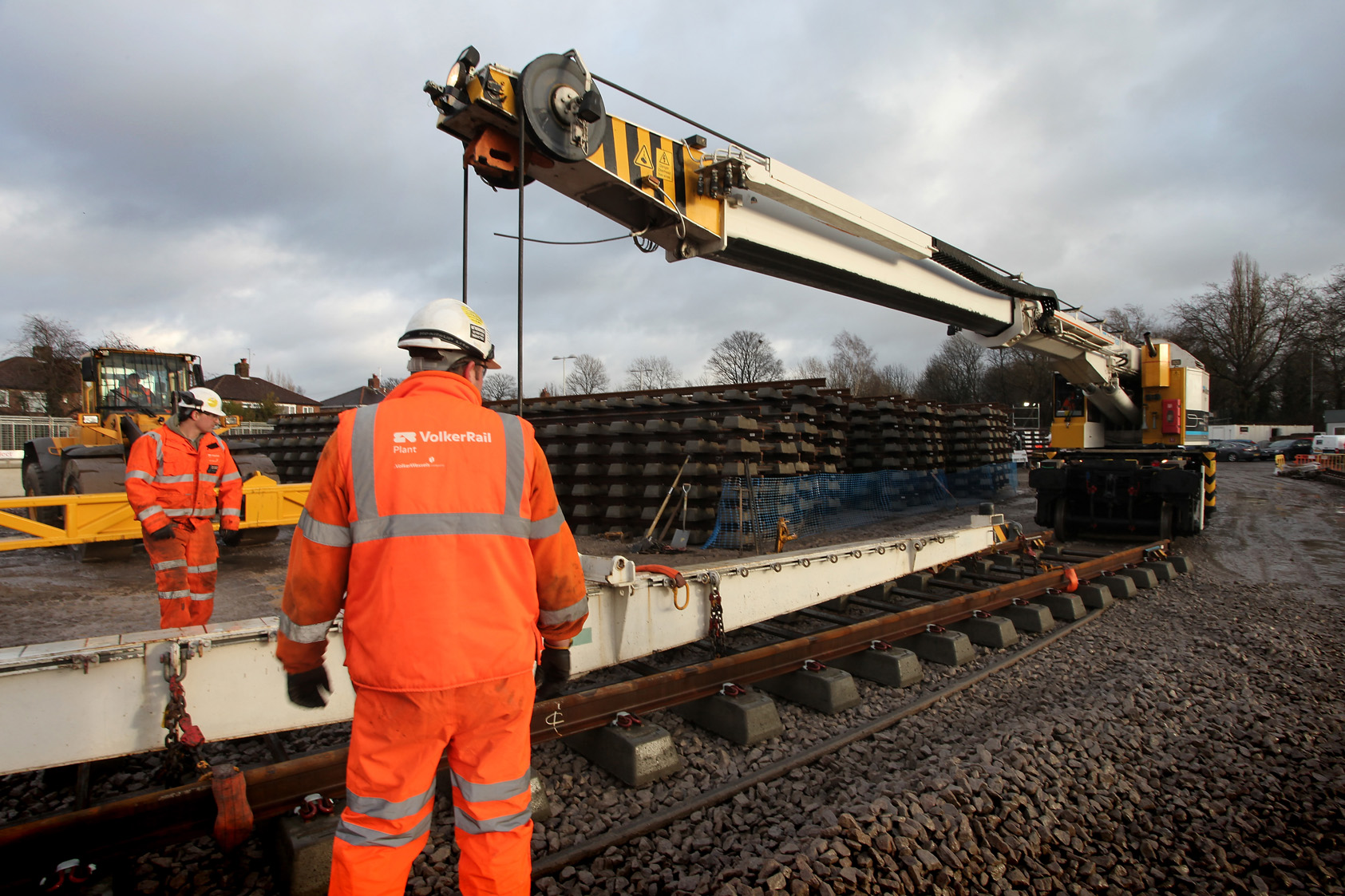 VolkerRail employees working at Manchester