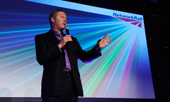 Rory Brenner at the Network Rail awards