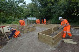 Walton Hall Academy's garden receives makeover by Staffordshire