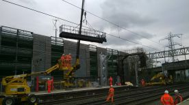 Gantry going in at Stafford station